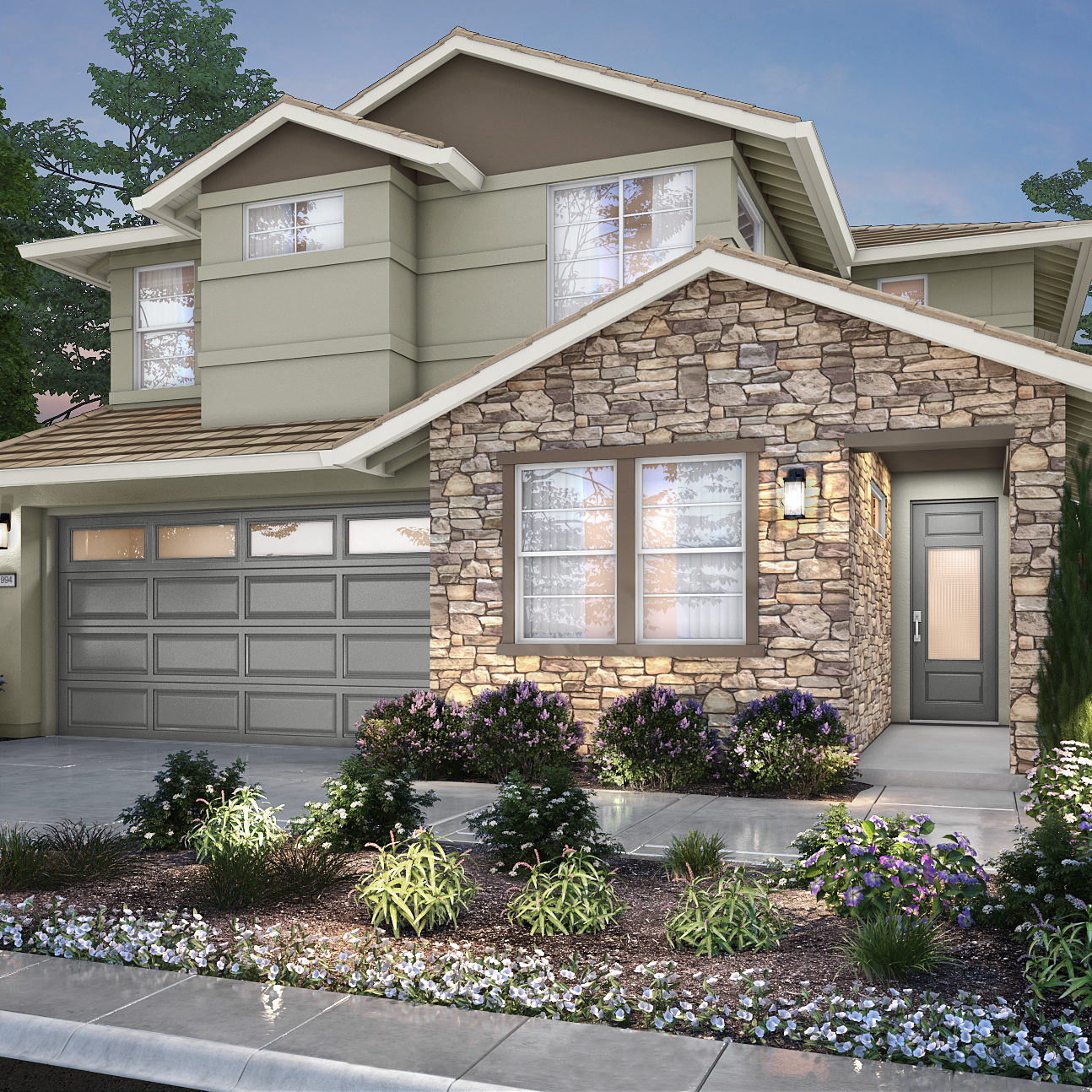 Pictured is a new home at Elan Montelena. Learn more about these beautiful new homes.